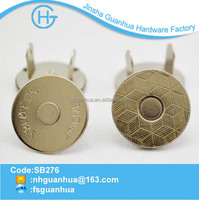 18mm magnetic button for leather bags