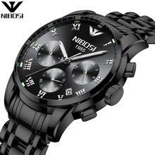 Hot Selling NIBOSI Mens Watch Chronograph Watch Stainless Steel Luminous Watch