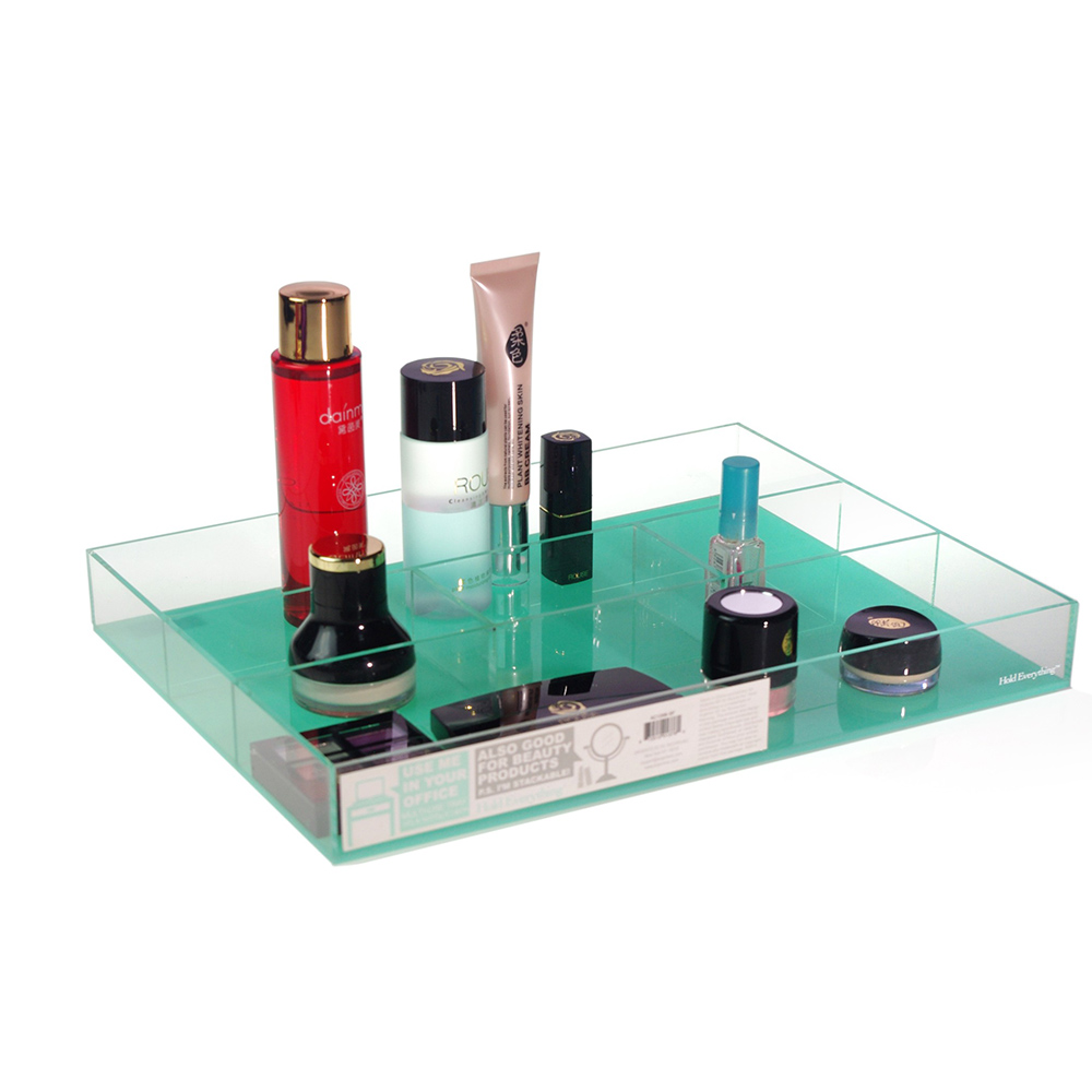 Wholesale retail acrylic display cases stands with small compartment