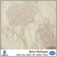 luxury vivid embroidery floral wallcoverings designs with 12 colors
