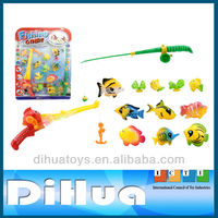 Plastic Fishing Game with Fishing Rod and Fish