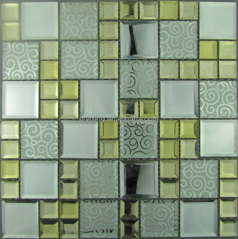 2017 New Tokyo hot sale beveled mirror glass mosaic for home decor bar club restaurant shop decoration
