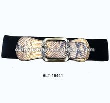 2012 fashion snake design elastic belt flower buckle