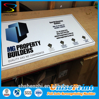 cheap price corrugated plastic yard signs with metal stake for advertising