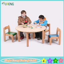 New fashion wooden kindergarten chairs and tables BPC-T1001 use for children daycare furniture