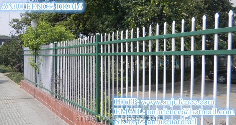Simple and stronger tubular Galvanized steel fence DK 016