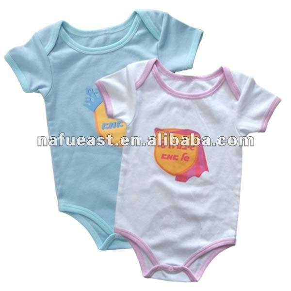 Cotton soft handfeel baby clothing with print