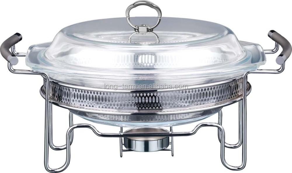 Glass Food Warmers ~ Cd b glass lid chafing dish and food warmer buy