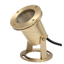 marine polished brass underwater light ip68 lamp