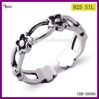Solid 925 Sterling Silver Flower Shaped 925 Sterling Silver Infinity Ring