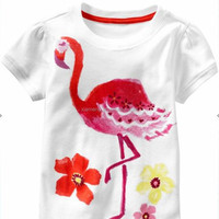 2016 hot sale latest style OEM service Ruffle Girls Printed stylish girls wearing only shirts