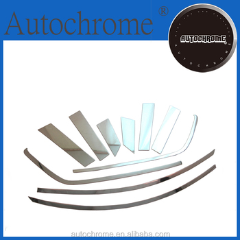 Factory price auto parts car part chrome side door window top trim set stainless steel for F ord Ec oSport 2013 Up