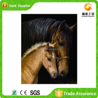 Hot selling economical unique present painting and calligraphy wall decor horse diamond painting