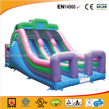 2017 Newest Commercial Super Dual Lane Slide n' Bouncer/Hot Sale Cheap Inflatable Bouncy Castle for Commercial Use