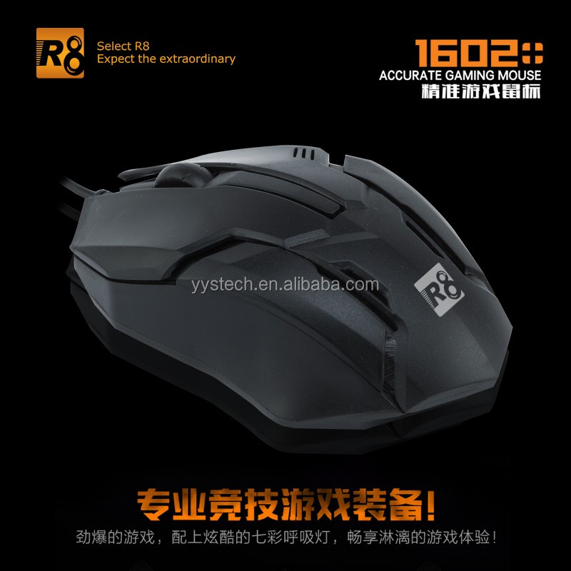 R8 wired computer optical mouse