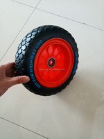 10''HIGH QUALITY PU FLAT FREE PUNCTURE PROOF SOLID WHEEL FOR HANDTRUCK