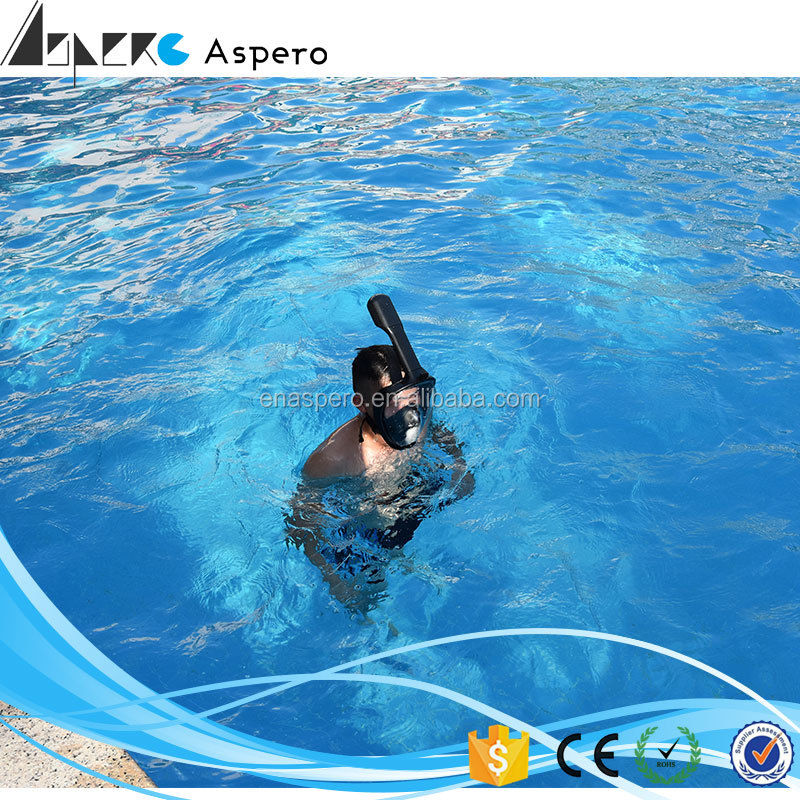 HOT Sale Sports Accessories Snorkel Full face Swimming Dive Scuba Face Mask Camera Mount Swimming Diving Mask factory