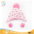 WINUP high quality beautiful baby girls winter knit hat and scarf set