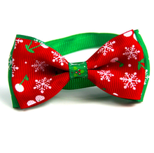 Christmas Holiday Pet Cat Dog Collar Bow Tie Adjustable Neck Strap Cat Dog Grooming Accessories Pet Product Supplies