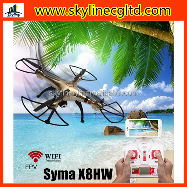 2016 New Arrival Syma X8HW Height hold RC FPV Drone quadcopter with camera and phone holder