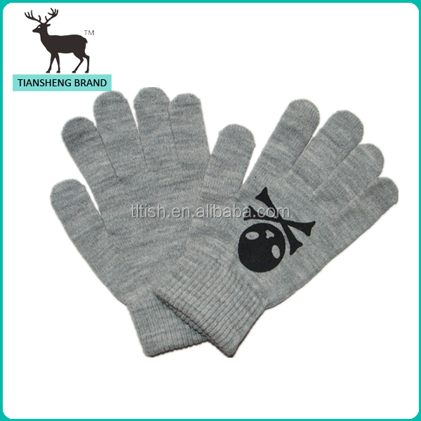 printing skullcandy knitting gloves