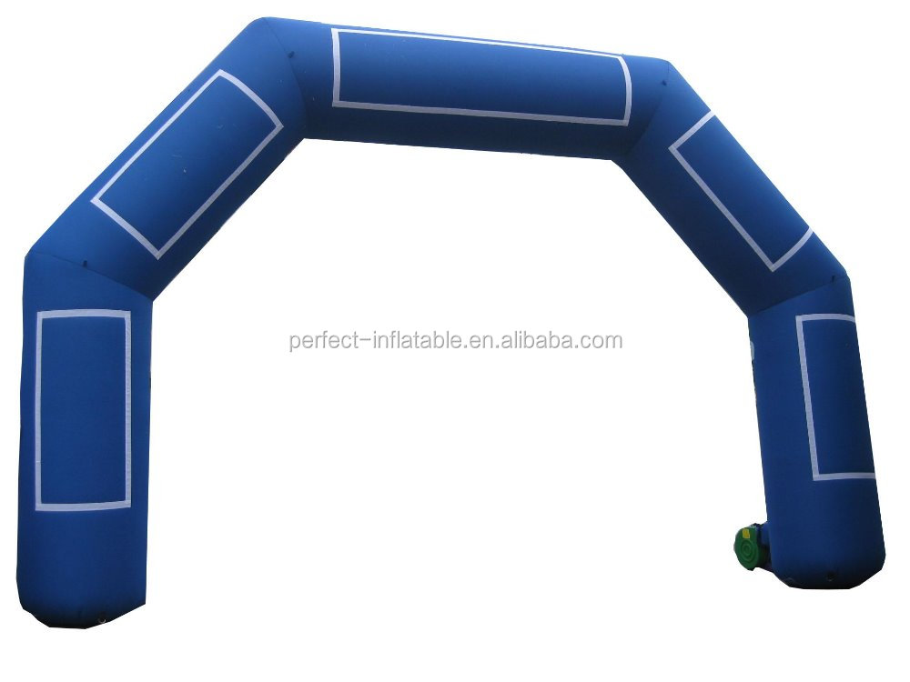 Giant blue entrance arch gate inflatable outdoor arch for events