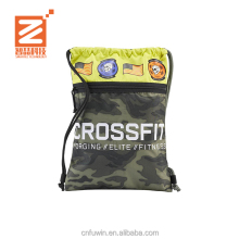 Custom Promotional Sport Pack Recycled Polyester Carry Drawstring handle bag