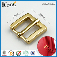 Fashion shiny gold 28mm metal strap bag clip buckle