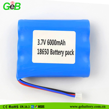 battery manufacturer 18650 lithium ion battery 3.7v 6000mah recharge battery