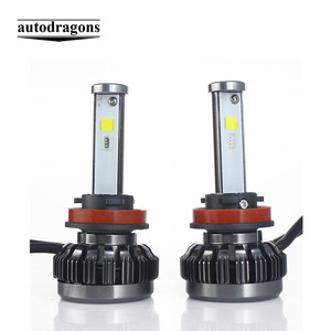 H1 H3 H11 Car RGB LED Headlight Kit Bulb With Bluetooth Phone Sound Sync Light Control Colorful Automobiles RGB Fog Light