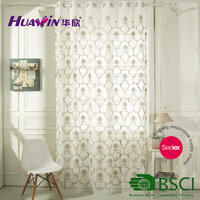 curtain polyester wholesale floral design polyester embroidered sheer curtains