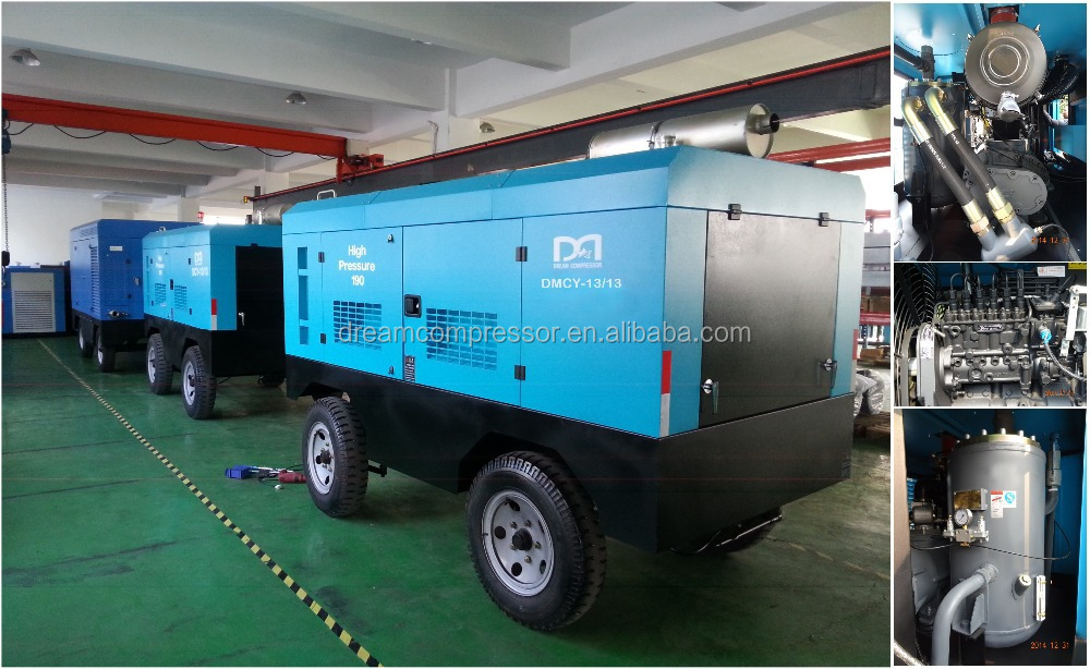 Portable GS standard diesel screw air compressor for mining