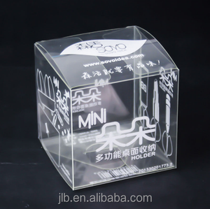 Custom made beauty plastic box clear PVC printed folding packing box