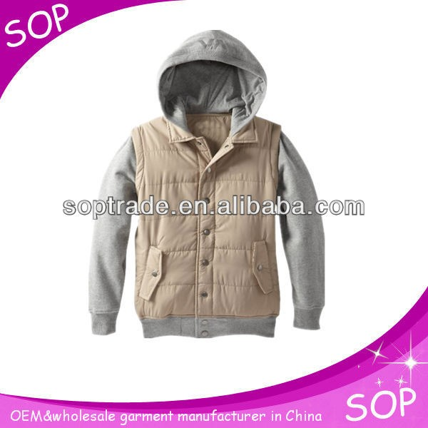 100% cotton designed outdoor kids hoodies with button front