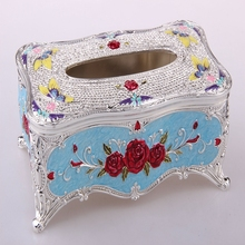 New arrival classical zinc alloy tissue box made in china