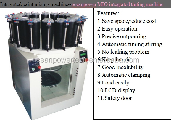Quick refilling system transparent inspection window for Paint tinting machine