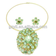 Polki jewelry set/ fashion crystal jewelry set