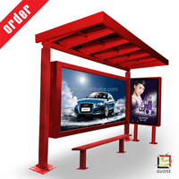 panel led electronic billboard rotating display stand acrylic picture frame power saving solar bus shelter