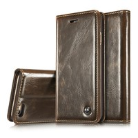Wholesale Cell Phone Accessory For IPhone 5 Case book style hot wallet Leather Case For iPhone SE