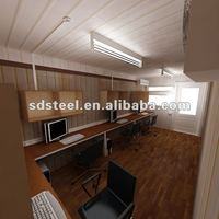 CE prefabricated office container