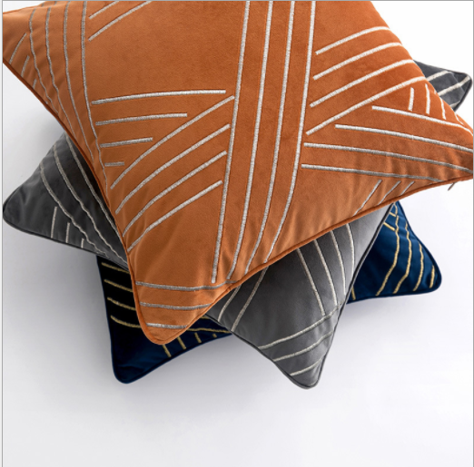Striped Jacquard polyester art decor Cushion Cover throw pillow case