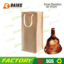 Factory Recycle Jute Wine Bag Wine Box Wine Container DK-HY059