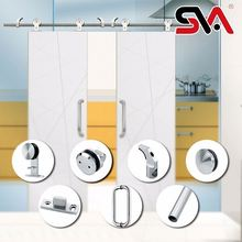 Hot Sale Double Rollers Heavy Duty Hanging Sliding Barn Door Hardware For Solid Wood