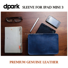High quality genuine leather and wool felt pounch pc tablet case for ipad mini 3 air pro or 8 inch tablet pc