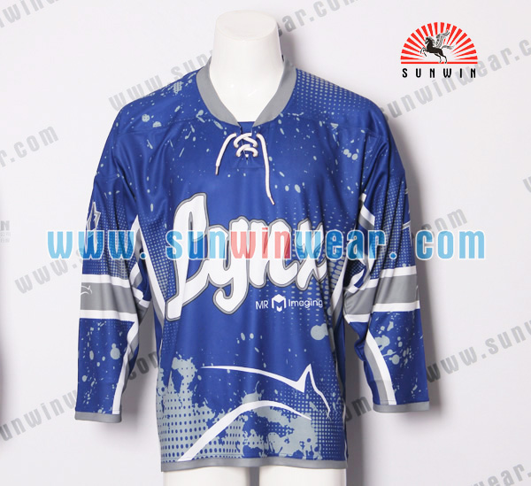 custom 100% polyester hockey jerseys team hockey jersey on sale