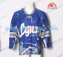 Kustom 100% polyester hockey jerseys tim hockey jersey dijual