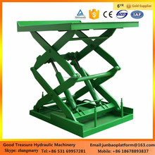 China durable folding fixed hydraulic scissor lift with handrail sale