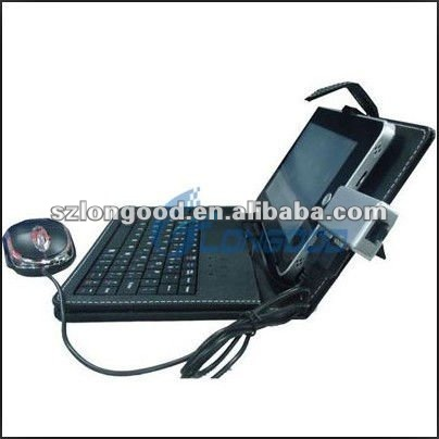 "7"" Tablet Leather Case for ePad aPad iRobot with Keyboard"