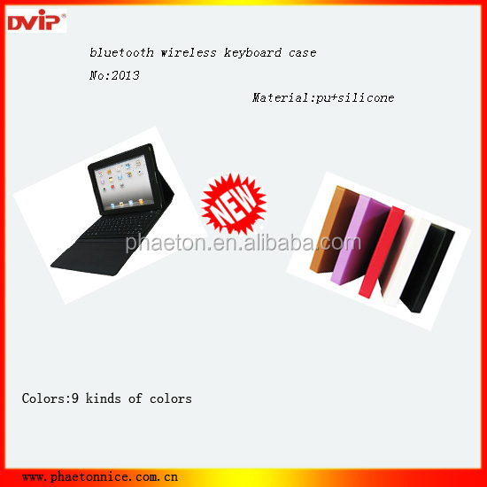 Factory Price Bluetooth Keyboard leather case for Ipad3, Ipad4 with Mutifunction Languages