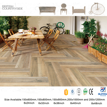 New 3d inkjet printing wood grain porcelain floor tile Serpecggiante matt texture wooden wholesale price tiles